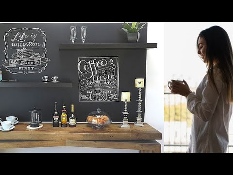 Home Coffee Bar-Coffee Station-Revamp Boring Walls-Easy DIY