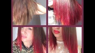 видео Красное мелирование волос. Модные красные пряди в волосах