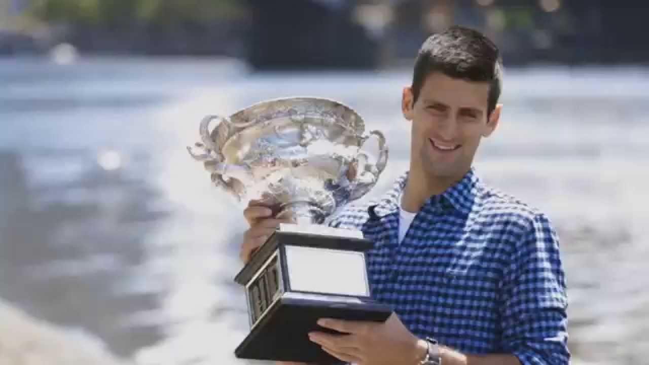 Novak Djokovic Trophy Photo Shoot Australian Open 2015 Youtube