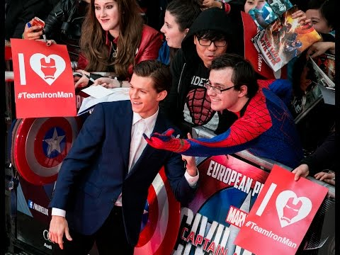 CAPTAIN AMERICA CIVIL WAR European Premiere Red Carpet - Tom Holland, Chris Evans, Elizabeth Olsen
