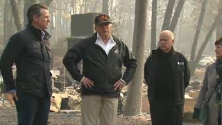 Trump tours Camp Fire devastation in Paradise as death toll rises