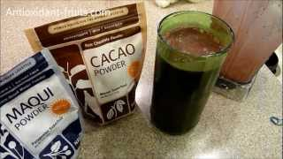 Navitas Naturals Chocolate Maqui Berry Powder Mint Smoothie - Antioxidant-fruits