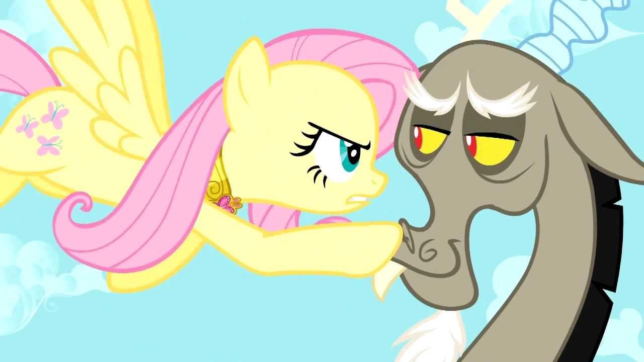 Discord Trolling Fluttershys Stare - My Little Pony