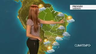 Previsão Brasil - Risco de temporais neste sábado