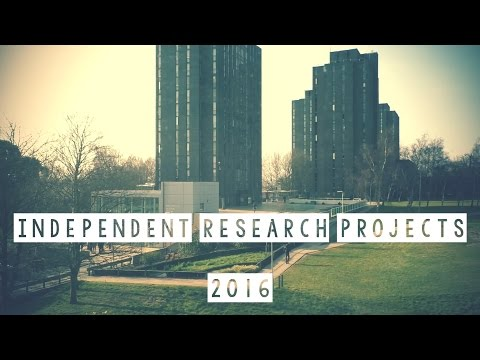 Independent Research Projects 2016: Final Year Students