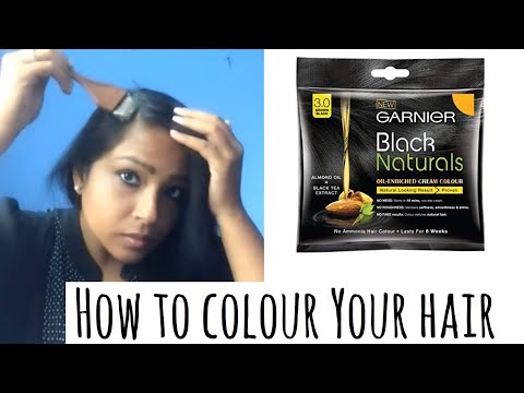 Affordable Hair color - Garnier Black Naturals Hair Colour Reivew