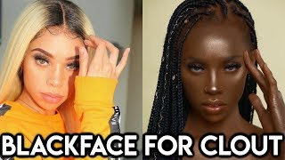 IG Model does BLCKFACE to support Melanin Queens ChiomaChats