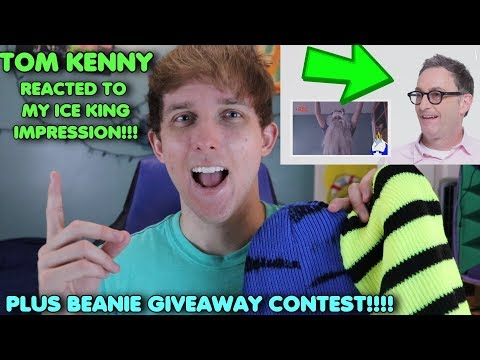 Tom Kenny REACTED TO MY IMPRESSION!!!! (Plus Beanie Giveaway!!)