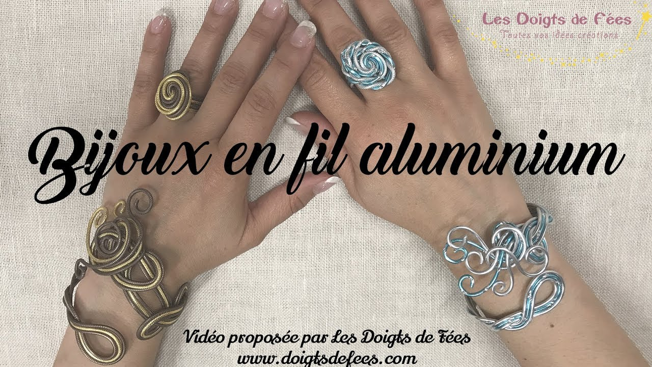 tuto diy bijoux en fil aluminium bague bracelet les doigts de fees
