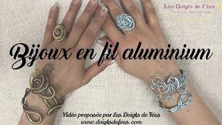 [Tuto / DIY] Bijoux en fil aluminium (bague & bracelet) - Les Doigts de Fées