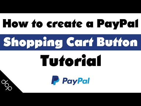 How To Create A PayPal Shopping Cart Button - [ Take Payments Online ]