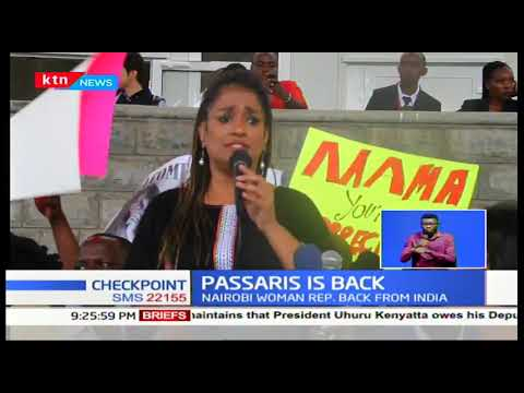 Esther Passaris jets back into the country after weeks away in India for treatment