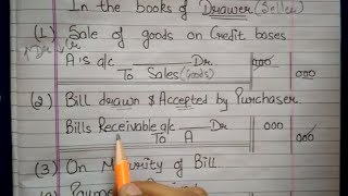 Bill of exchange With Journals Under Different Cases in Hindi by JOLLY Coaching