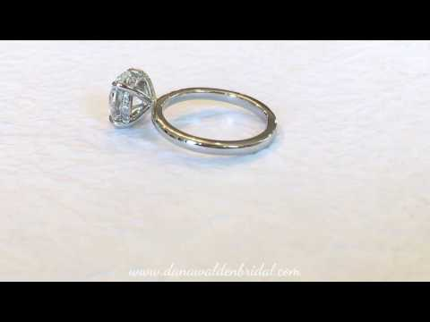 2.02 Carat  Gemma Secret Diamond Delicate Solitaire Engagement Ring  Dana Walden NYC