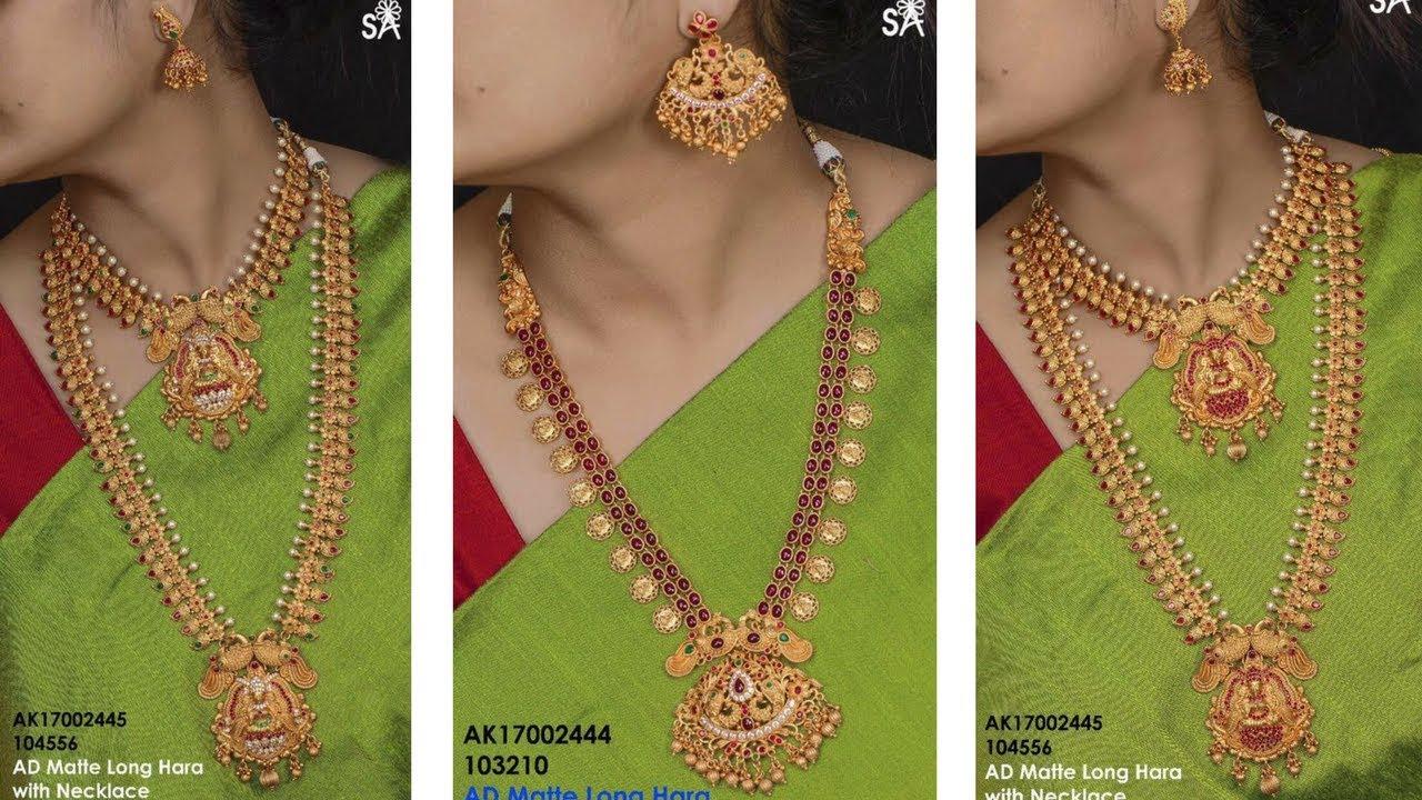 Latest Gold Haram Jewellery Designs    Beautiful gold haram models ...