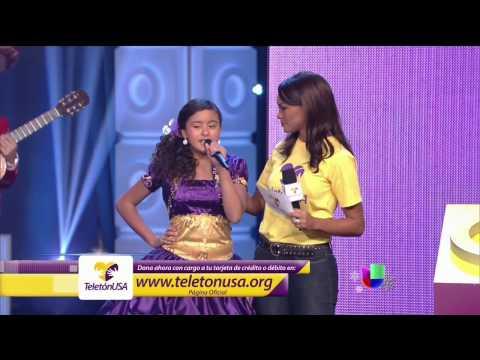Alondra Santos... Teleton USA 2013 (Univision)