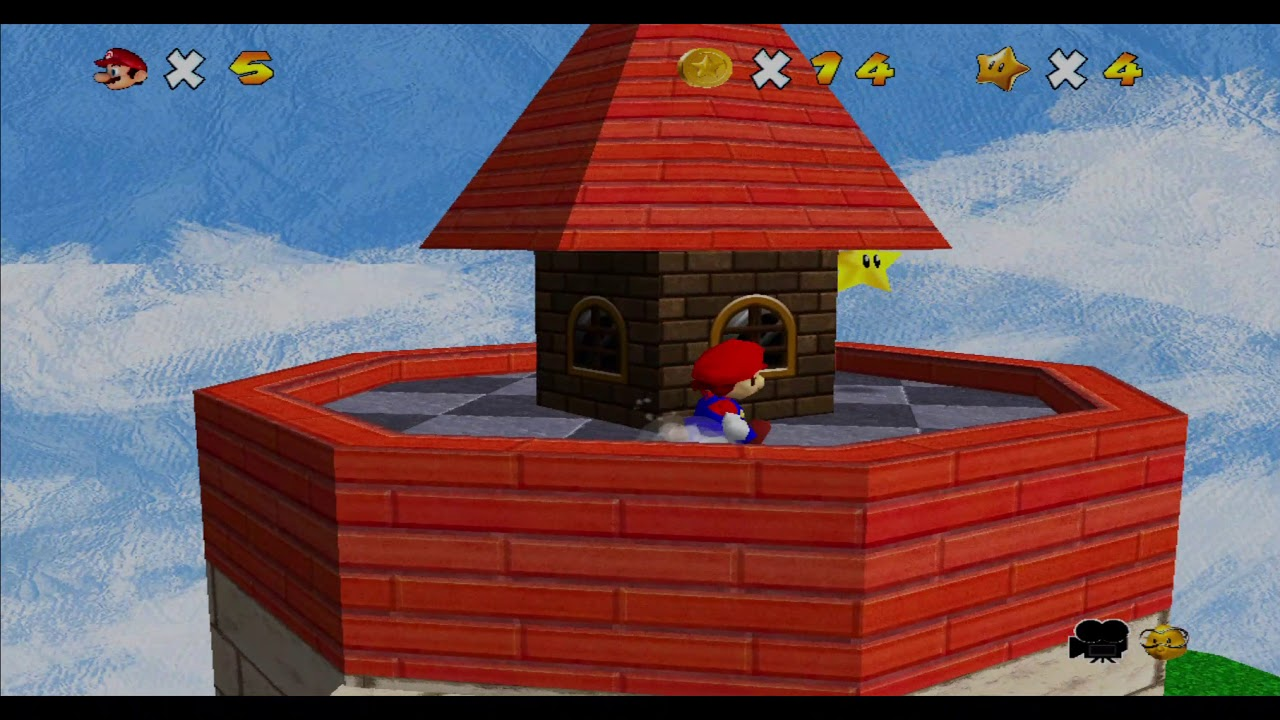Super Mario 64 HD Texture Pack Dolphin gameplay