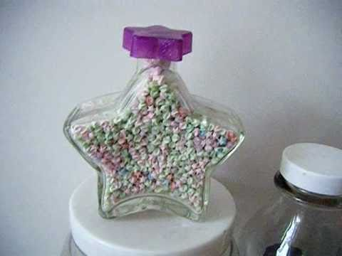 Glow In The Dark Origami Stars Star Shaped Bottle Hand Made