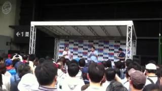 2012年6月17日 西武ドームでの埼玉西武対広島の試合前に行われた 東尾修...