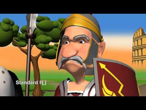 Cartoon Roman Soldiers