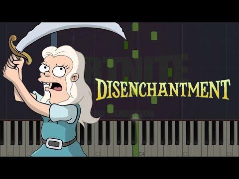 Disenchantment Main Theme  Netflix  Piano Tutorial