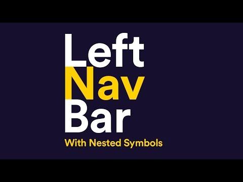Left Navigation Bar with Nested Symbols