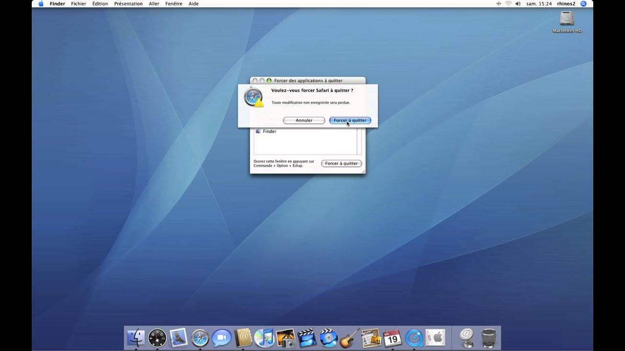 15 Forcer Une Application A Quitter Mac Os X Tiger Tutoriel