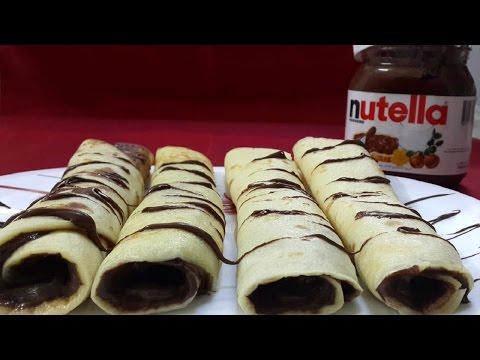 Recette de Crêpes au Nutella