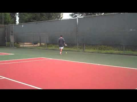 Todd Waibel Tennis at it again, great lefty serve on display here.