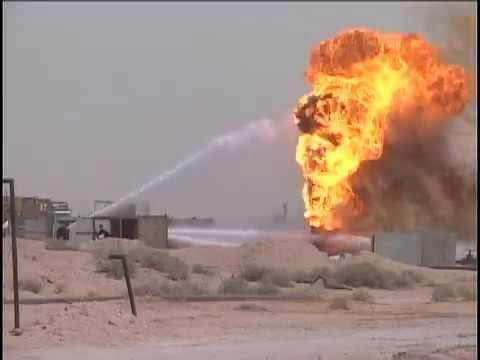 Ramayla Oil Fields Fire - Iraq (Mar. 26, 2003) | US Marines Archive