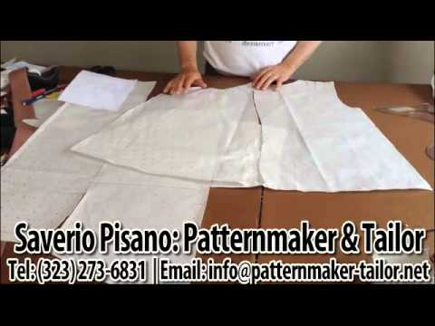 Making of a Jacket w/Cape Sleeves in the back by Patternmaker and designer Saverio Pisano