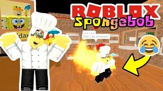 SPONGEBOB ARBEITET IM PIZZA RESTAURANT!! 😎🤣-ROBLOX Spongebob Vereinigtes Königreich