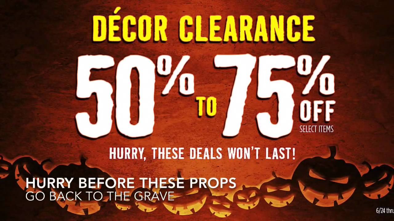 spirit halloween decor clearance sale huge savings 50 75 off