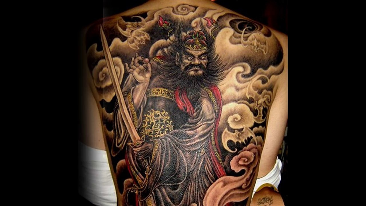 Awesome Back Tattoo Design