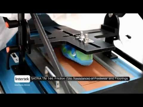 Intertek Demonstrates Friction Slip Resistance Testing YouTube - Floor friction tester