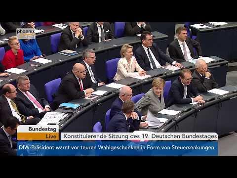 Eröffnung der konstituierenden Sitzung des 19. Deutschen Bundestages am 24.10.17