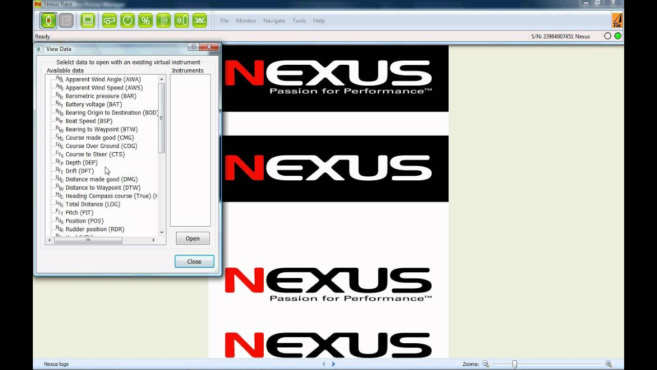An introduction to Nexus Race Software