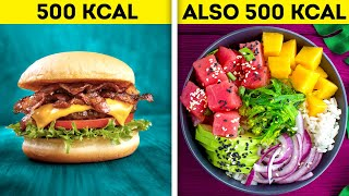 HEALTHY FOOD VS. FAST FOOD || 32 YUMMY RECIPES AND FUNNY SITUATIONS ABOUT FOOD