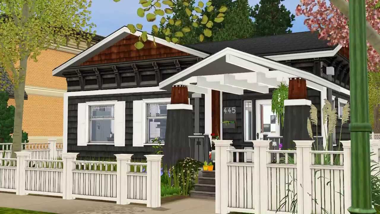 the sims 3 craftsman style house 2014 download - youtube