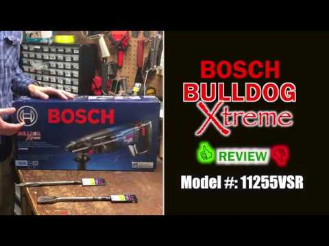 Bosch Bulldog Xtreme Review and Chiseling Concrete 11255VSR SDS-Plus