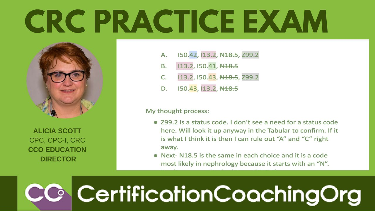 Crc practice exam questions | crc practice exam layout youtube.