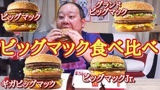 【期間限定】4種のビッグマックを全部食べたら満足感ハンパない!