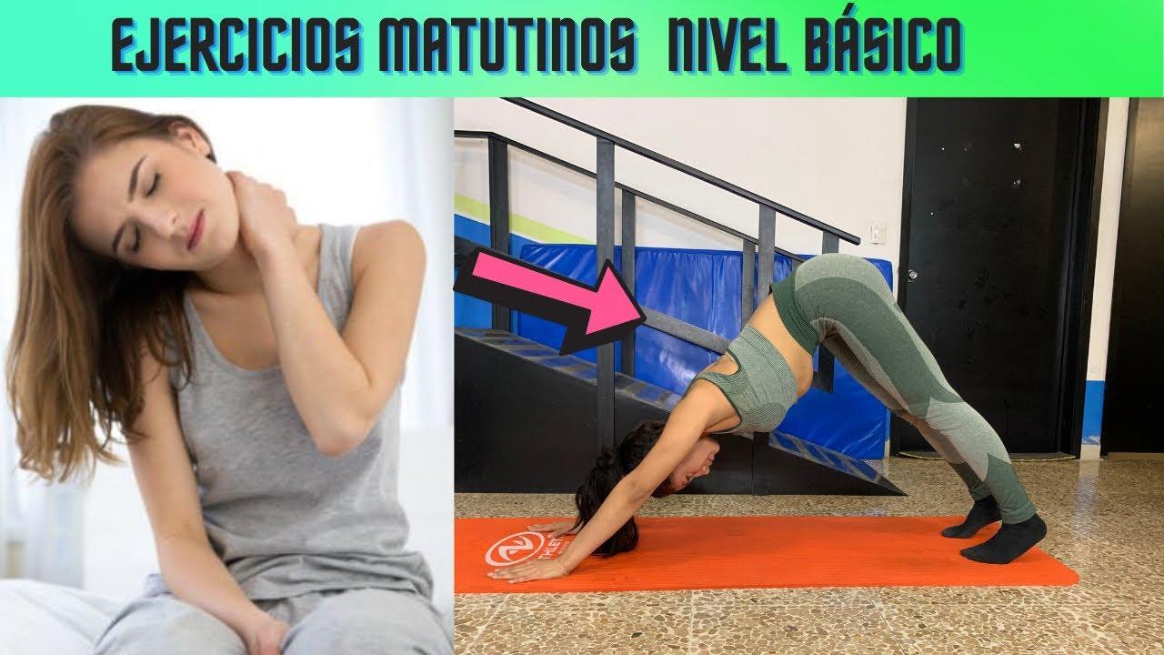 Hazlo por las mañanas/Ejercicios de ACTIVACIÓN MATUTINA nivel básico con la nutrióloga Sada