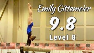 Gambar cover Emily's Highest Beam Score 9.8!  Gymnastics Level 8 Beam Champion Emily Gittemeier [2016]