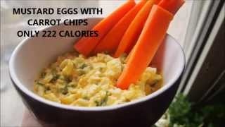 222 CALORIES - MUSTARD EGGS WITH CARROT CHIPS (100DTP - Low Calorie Dishes at Home)