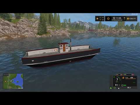convoy exceptionnel - carry a ferryboat on Mining & Construction Economy map v1.0