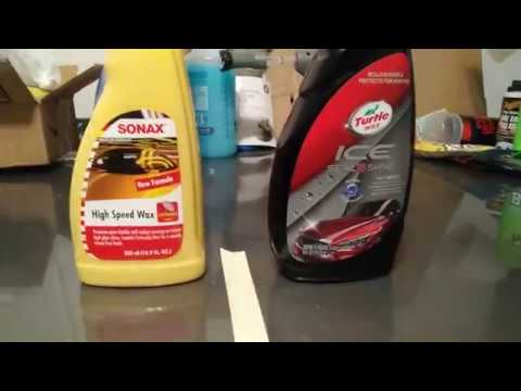 turtle wax ice seal n shine vs sonax high speed wax and. Black Bedroom Furniture Sets. Home Design Ideas