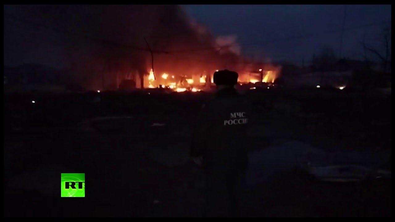Почти 40 человек пострадали при пожаре на автозаправке в дагестанском Кизляре