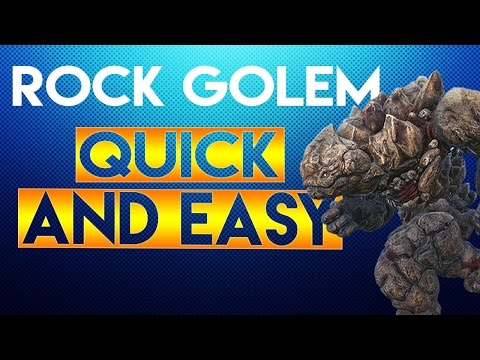 Ark:Survival Evolved - HOW TO TAME A ROCK GOLEM QUICK AND EASY!!