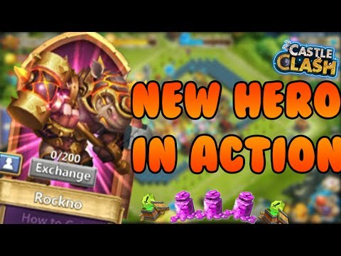 ROCKNO GAMEPLAY IN FULL ACTION! CRAZY SORROUNDING AREA PROCC   CASTLE CLASH